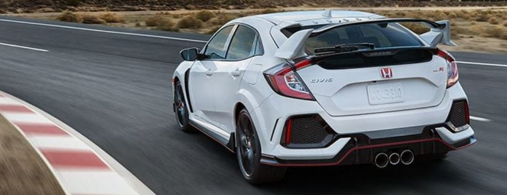 honda civic type r on a race track