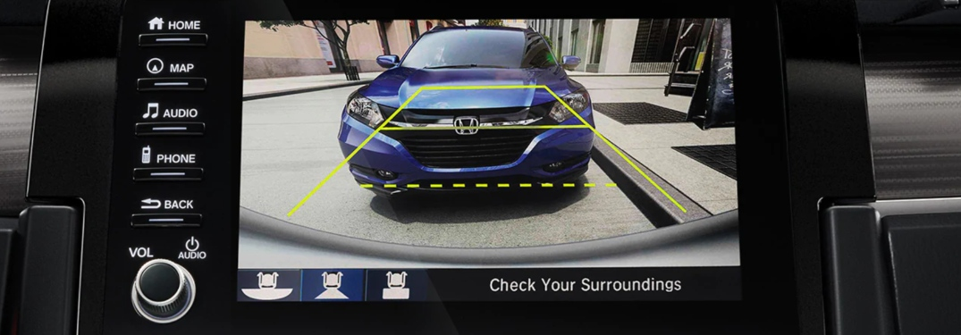 Backing Up Safely Using the Honda Multi-Angle Rearview Camera