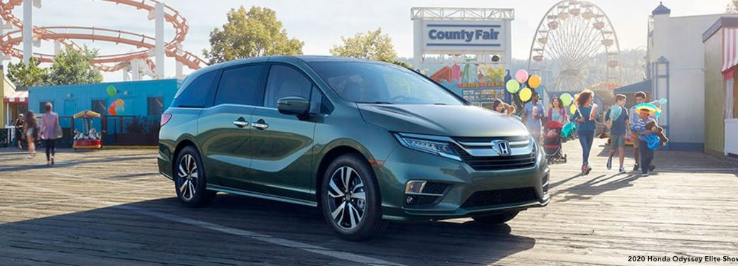 2020 Honda Odyssey Elite front fascia passenger side at county fair