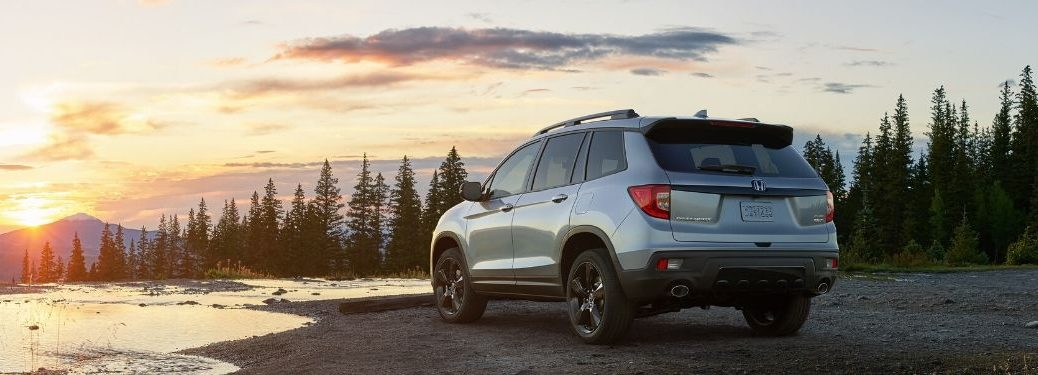 2020 Honda Passport in front of sunset