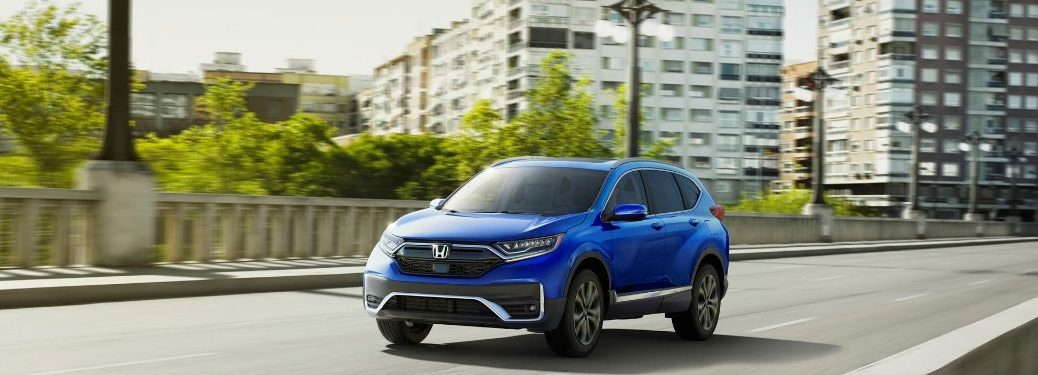 2020 Honda CR-V driving through the city