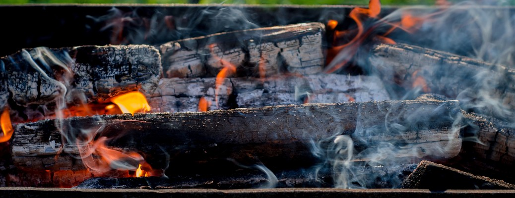 wood fire barbecue grill