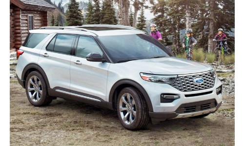 2020 Ford Explorer out in the woods