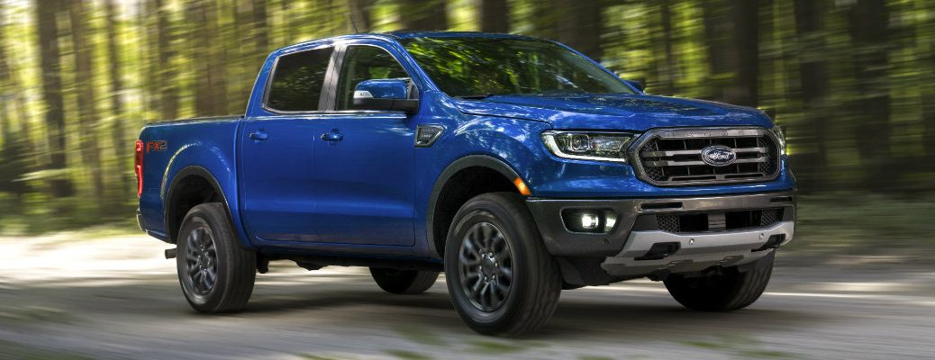 2019 Ford Ranger driving around in the forest