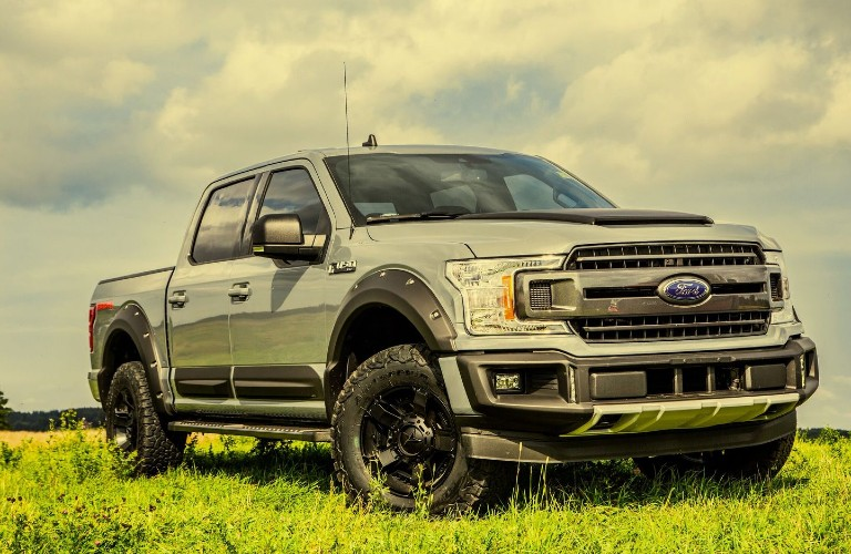 A filtered image of a Ford F-150 DAKAR Edition, customized by BLKSTK Customs.