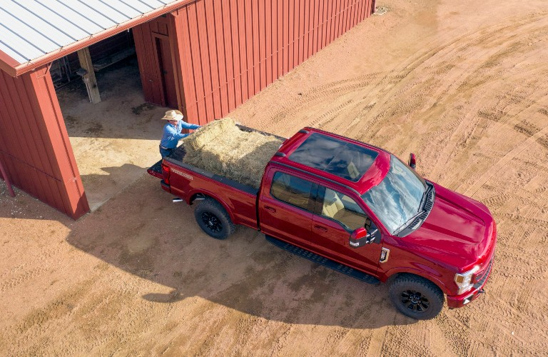 2022 Ford Super Duty Truck overhead view