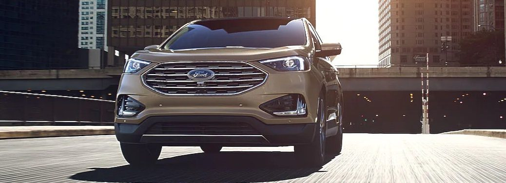 2021 Ford Edge driving on a city street