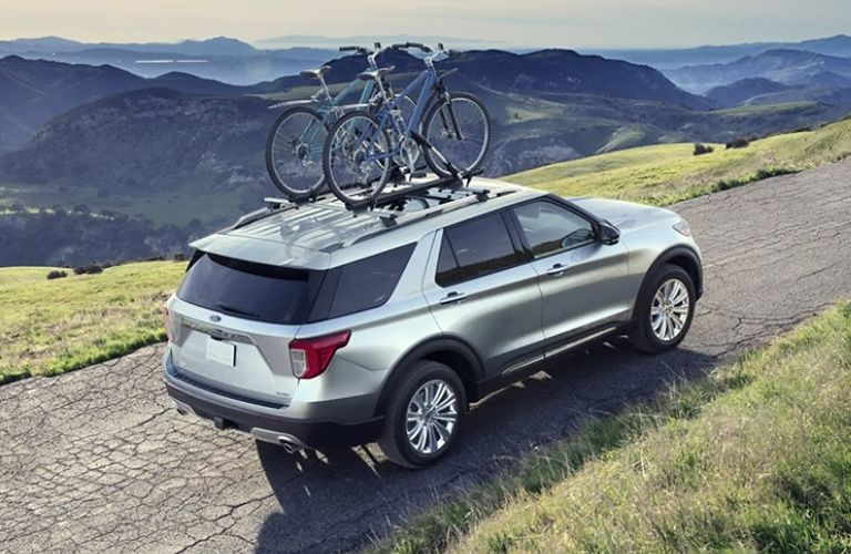 You can stow cycles on top of the 2021 Ford Explorer