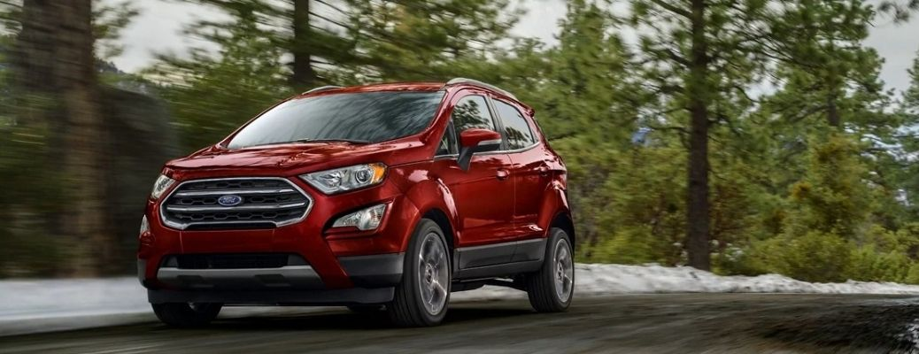 Broad image of the 2021 Ford EcoSport in red