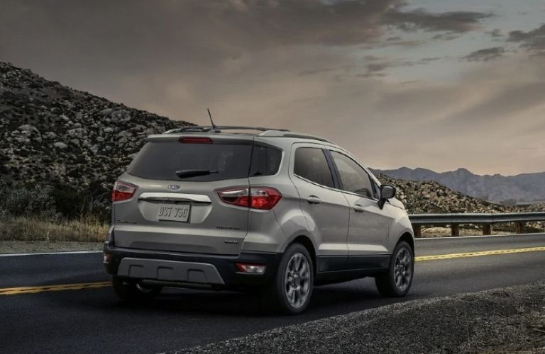 Rear end view of the 2021 Ford EcoSport