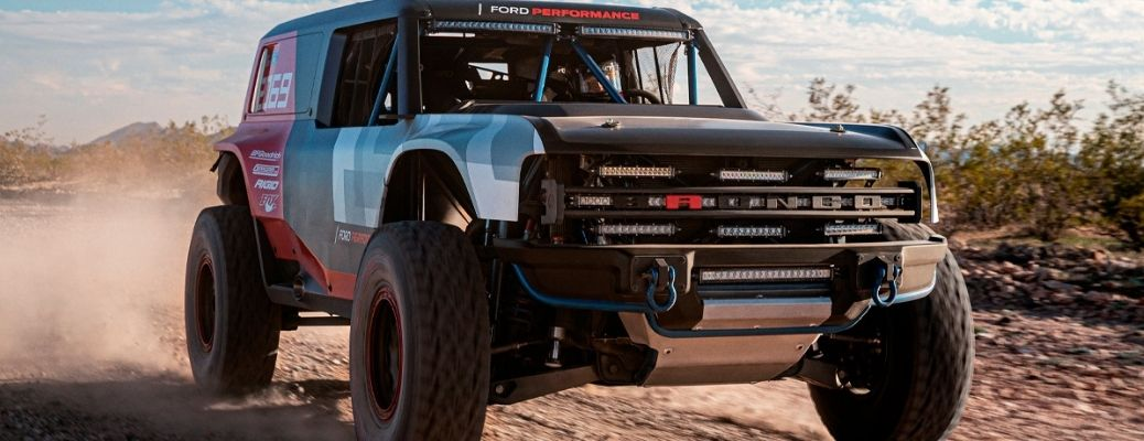 Close up view of the 2021 Ford Bronco