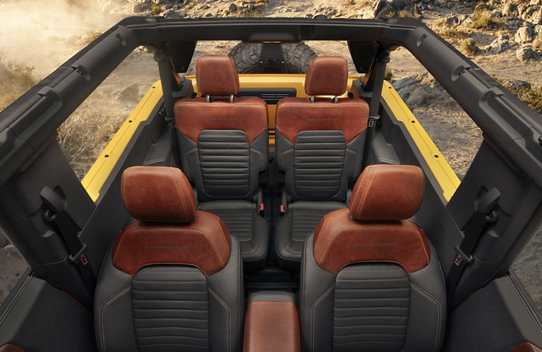 Top view of the seats of the 2021 Ford Bronco