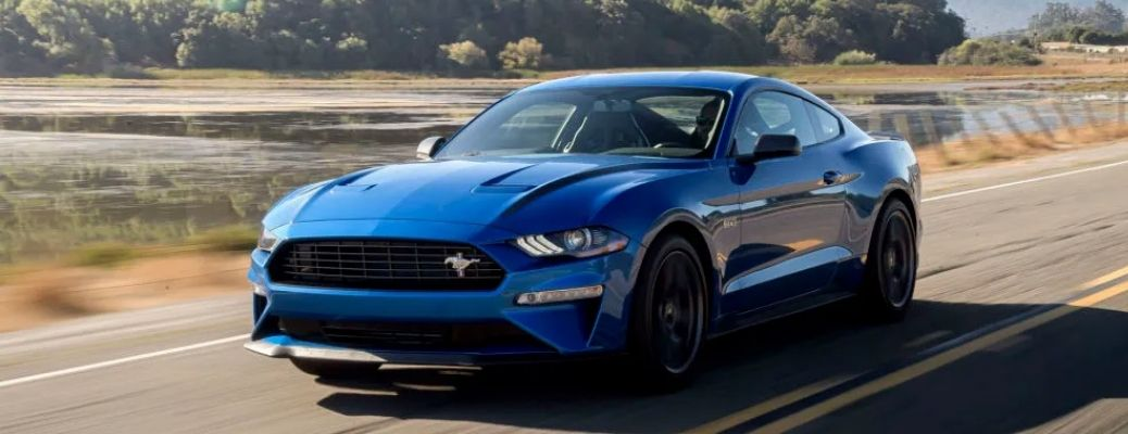 View of the 2022 Ford Mustang on road