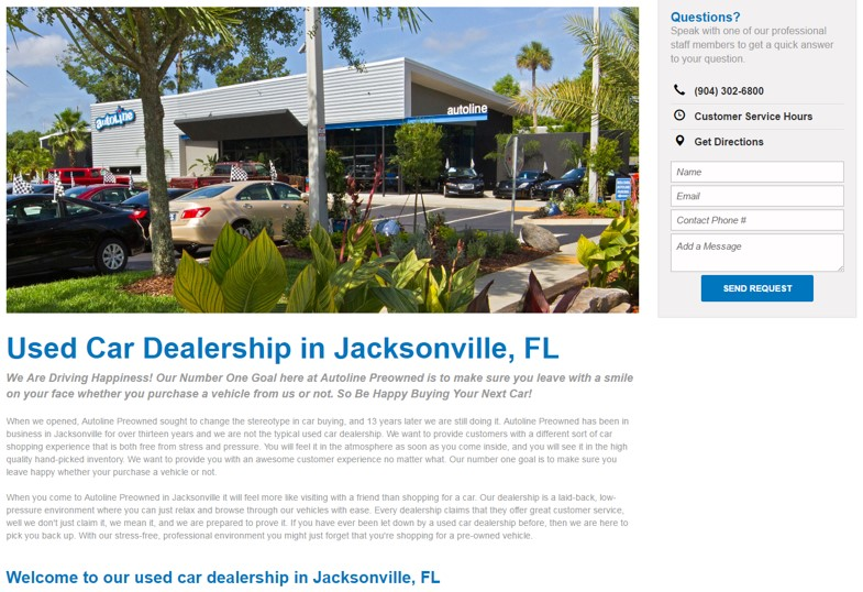 dealership about us page example