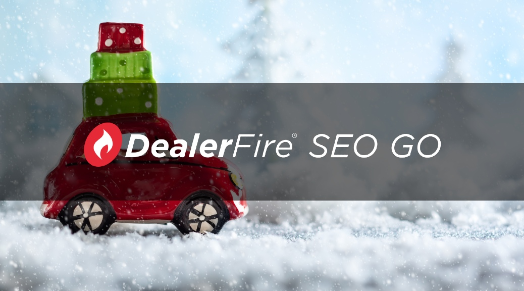 dealerfire seo go with toy car carrying gifts on roof