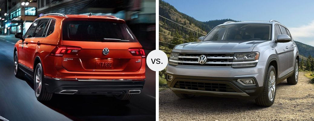 2019 VW Tiguan and VW Atlas in comparison image