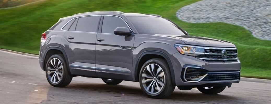 Exterior view of a Pure Gray 2020 Volkswagen Atlas