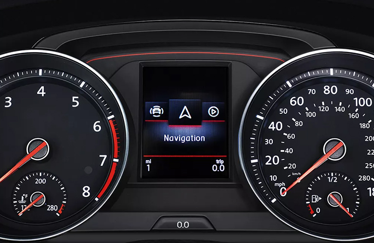 The Multifunction Display on a 2021 Volkswagen Golf GTI