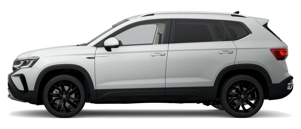 2022 VW Taos in Pure White color