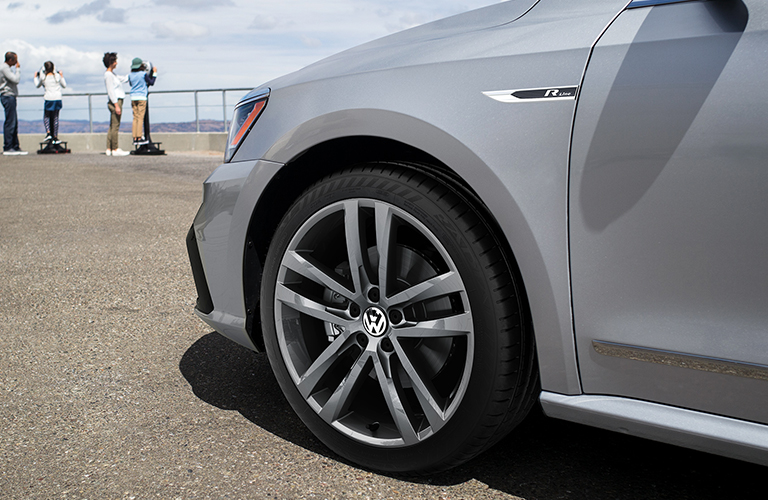 Driver side wheel of silver 2019 Volkswagen Passat