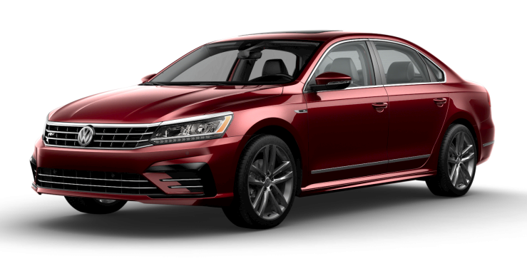 2019 VW Passat in Fortana Red