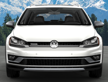 2019 Volkswagen Golf Alltrack in Pure White