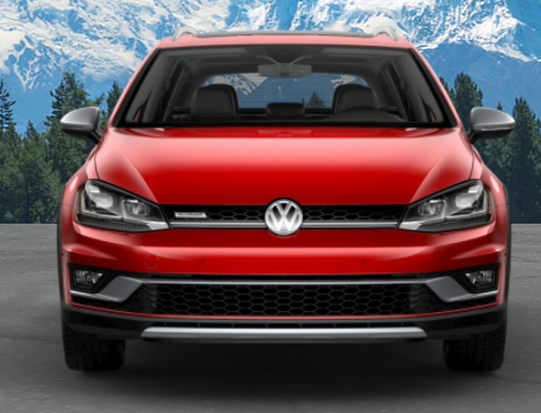 2019 Volkswagen Golf Alltrack in Tornado Red