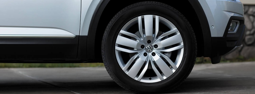 Recommended tire pressure level for the 2019 Volkswagen Atlas