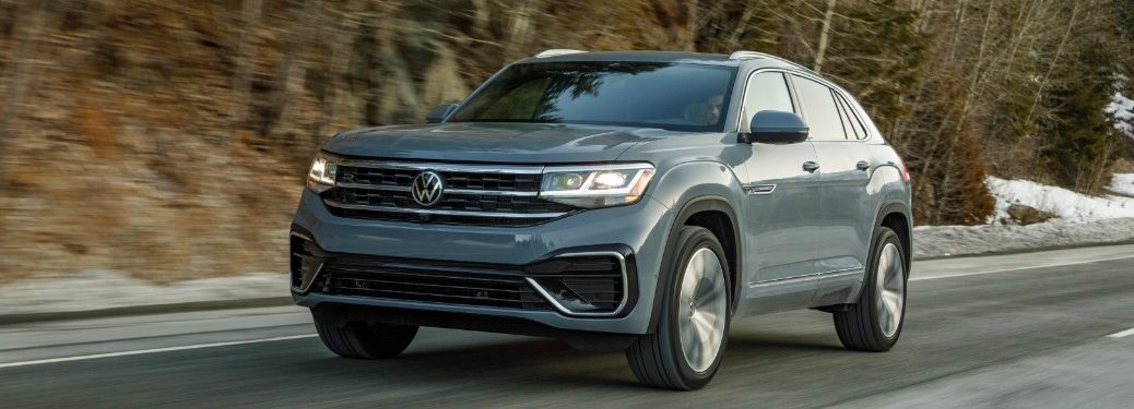 front view of a gray 2020 VW Atlas Cross Sport
