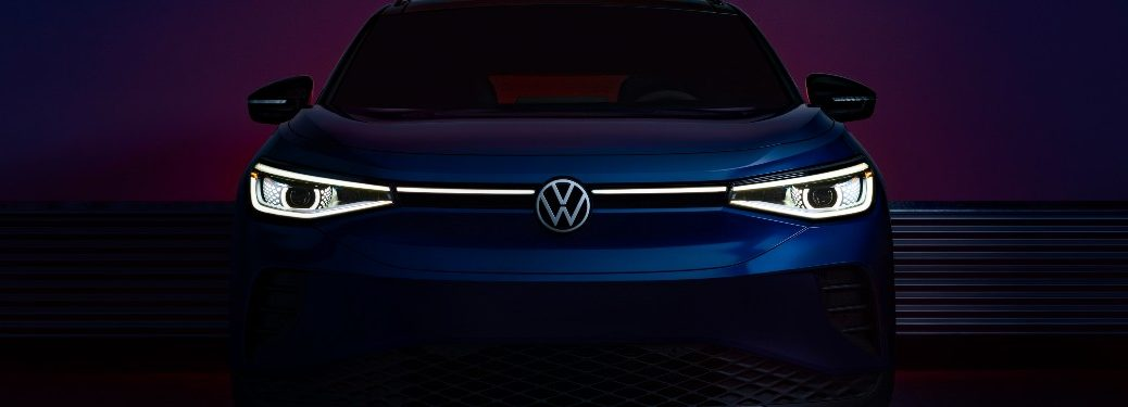 front end of a blue 2021 VW ID4