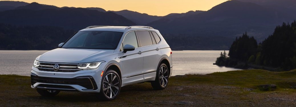 front view of a white 2022 VW Tiguan