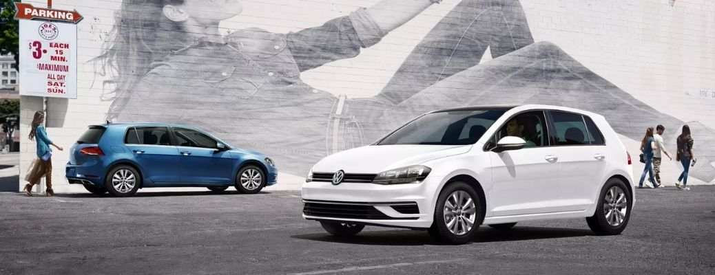 New Volkswagen Compact Vehicles parked on road