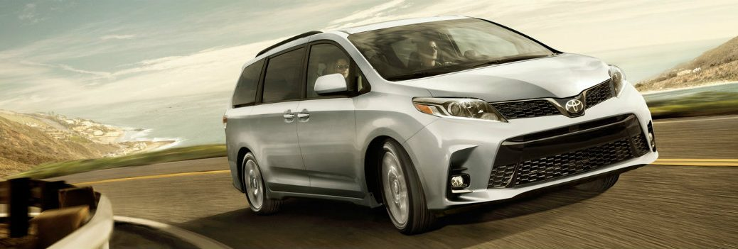 2019 Toyota Sienna on the road