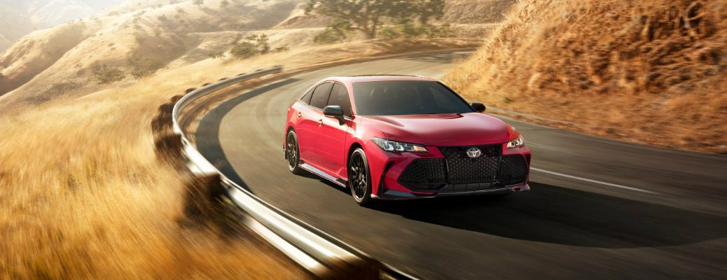 2020 Toyota Camry TRD on the road