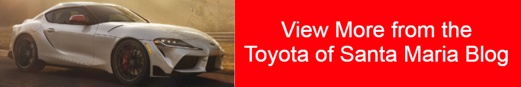 View More from the Toyota of Santa Maria Blog title and a white 2020 Toyota GR Supra