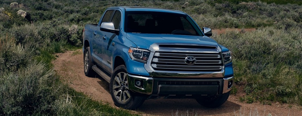 2021 Toyota Tundra driving up hilly terrain