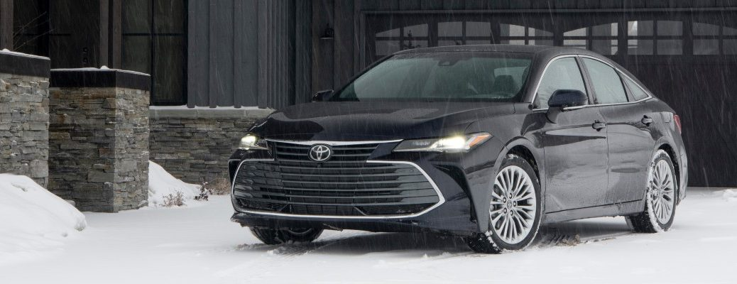 2021 Toyota Avalon parked in snow