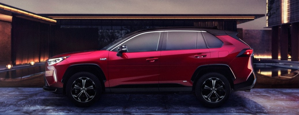 Side view of the 2021 Toyota Rav4 Prime
