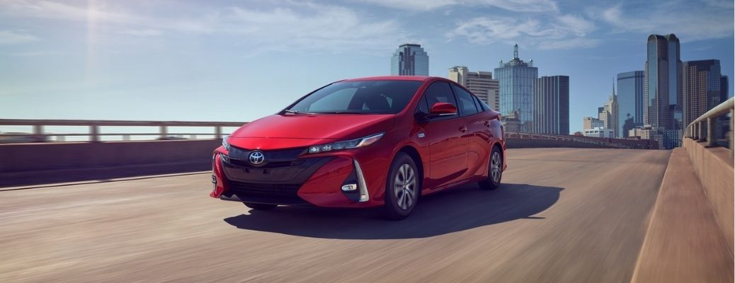 front view of the 2021 Toyota Prius Prime