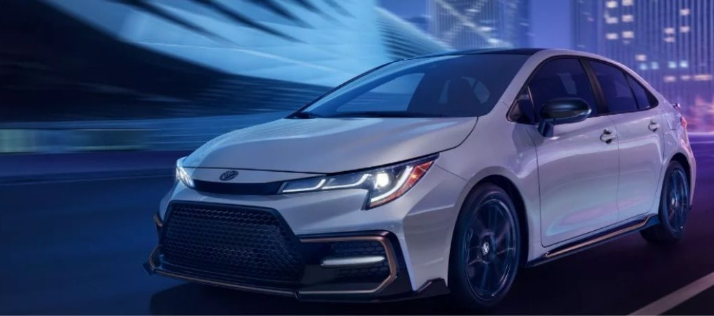 front and side view of the 2022 Toyota Corolla