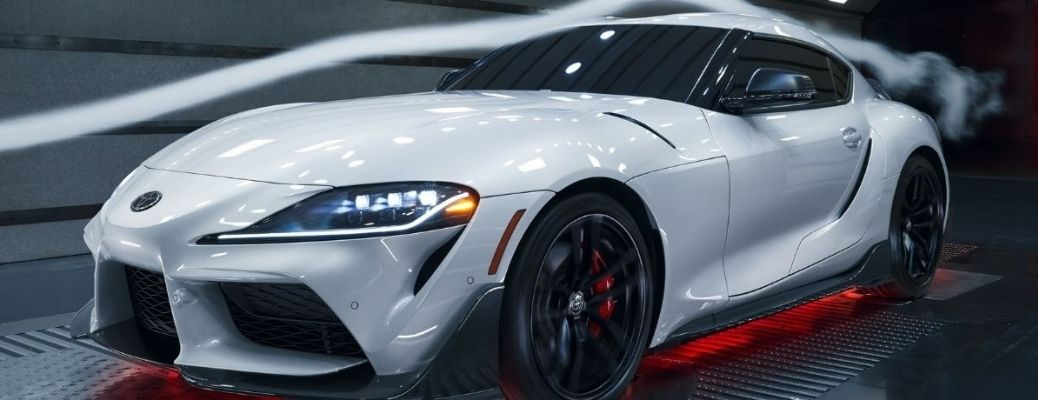 Front angle view of the 2022 Toyota GR Supra