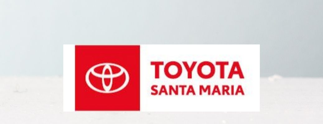 Logo of Toyota of Santa Maria in a neutral colored backdrop