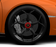Lamborghini Huracan Performante Loge Forged 20-inch black with red lock rims