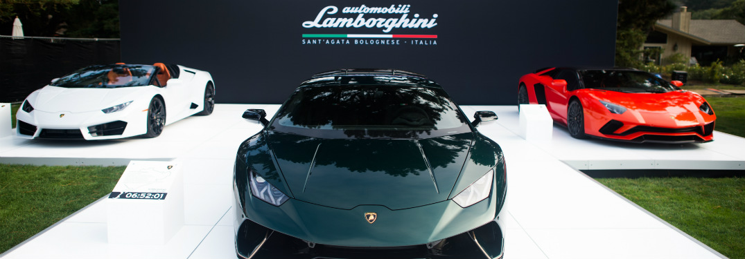 Lamborghini at The Quail in Pebble Beach