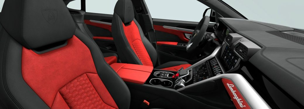 2018 Lamborghini Urus with red Alcantara seats