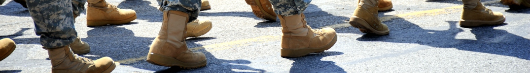Military boots marching