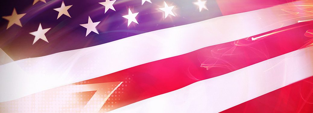 Sparkling American flag