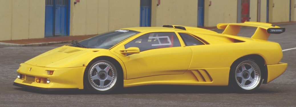 1995 Lamborghini Diablo Jota yellow side view
