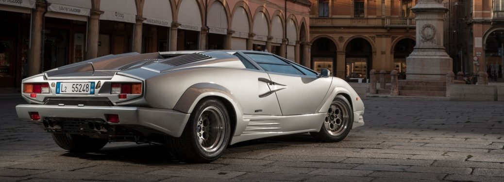 Lamborghini Countach silver back view