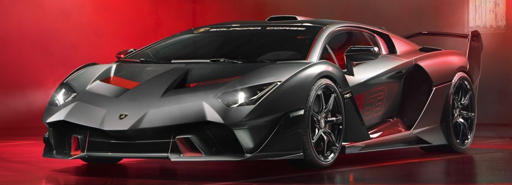 Lamborghini SC18 black side front view
